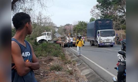 Lugar del accidente en Montería.