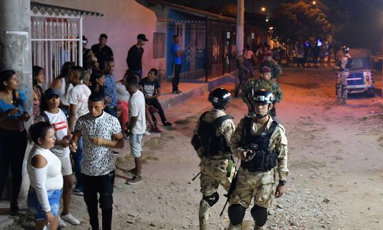 Policía Militar patrulla las zonas críticas de Barranquilla y Soledad