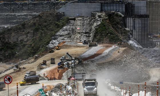 Emergencia que vivió la hidroeléctrica Ituango en mayo de 2018.