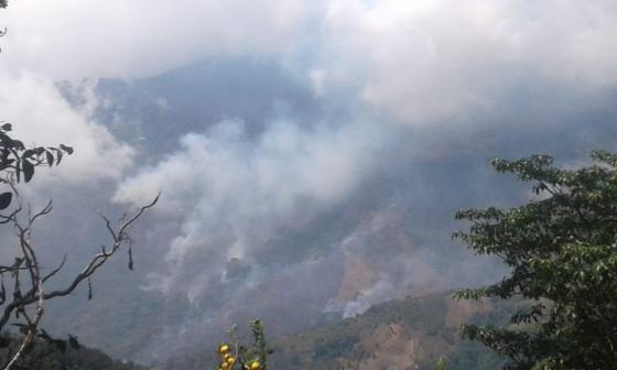 Incendios forestales encienden alarmas en la Sierra Nevada de Santa Marta