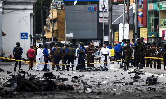 Acusan a grupo islamita de atentados en Sri Lanka