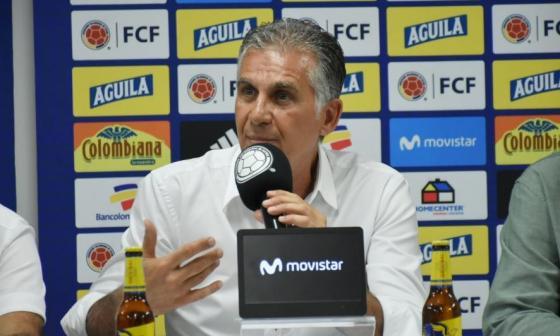 Carlos Queiroz durante la rueda de prensa de este jueves.