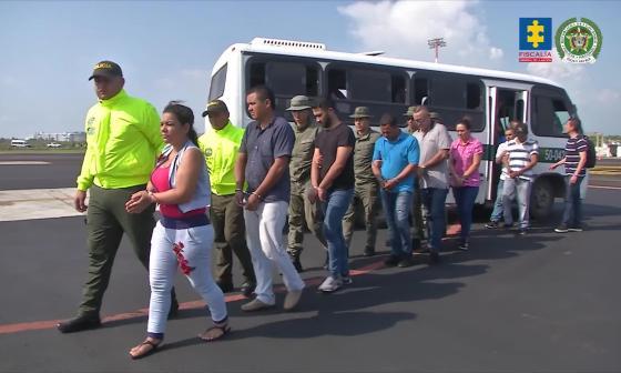 En video | Caen 14 personas que servían a mafia italiana y carteles mexicanos en Colombia