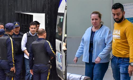 Ramsés Vargas Lamadrid a su salida de la Cárcel Distrital El Bosque.  Silvia Gette Ponce en su traslado hasta la Cárcel de El Buen Pastor.