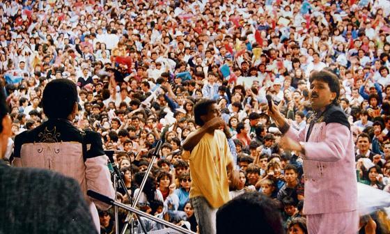 La música vallenata de Rafael Orozco convocaba a cientos de fanáticos en la región Caribe.