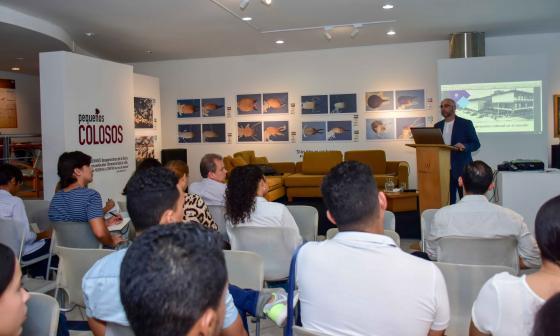 Aspecto de la charla sobre patrimonio celebrada en la sede de la Alianza Francesa de Barranquilla