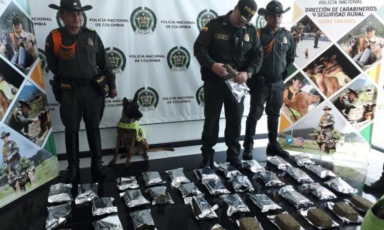 26 kilos de marihuana tipo cripy se suman a la media tonelada incautada por la Policía en el mes de junio.