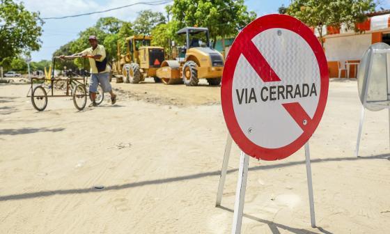 En marcha obras de conexión vial en Sabanagrande