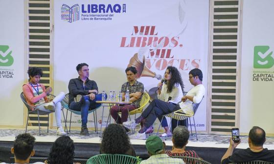 De izquierda a derecha: Kirvin Larios, John Better, Fabián Buelvas, Cristina Bendeck y Pedro Lemus.