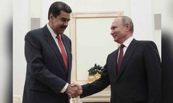 Nicolás Maduro y Vladimir Putin, presidentes de Venezuela y Rusia, respectivamente.