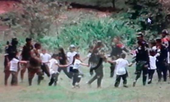 Esta es la foto que El Colombiano dice que fue tomada en Cauca.