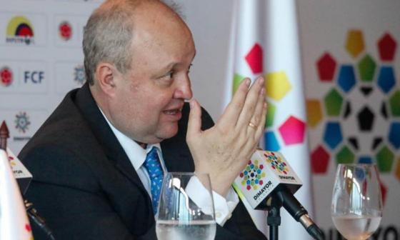 Jorge Enrique Veléz, presidente de la Dimayor.