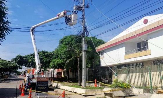 Avanzan trabajos de Electricaribe en el norte: energía se restablecerá a las 6:40 p.m.
