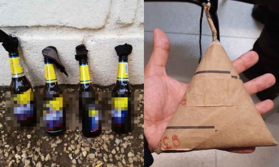 Artefactos explosivos incautados.