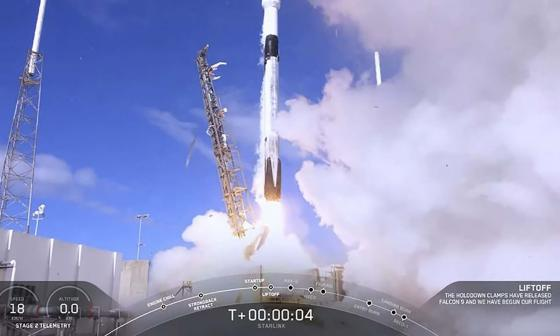 SpaceX lanza la segunda fase de su constelación de satélites