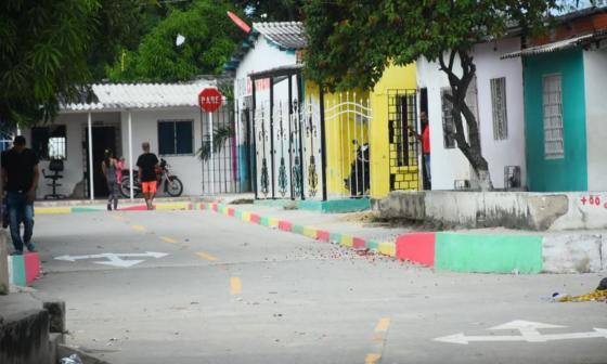 Calle 97 con carrera 6M del barrio La Gloria, donde ocurrió el homicidio.
