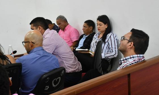 Aspecto de la audiencia de imputación de cargos a los procesados.