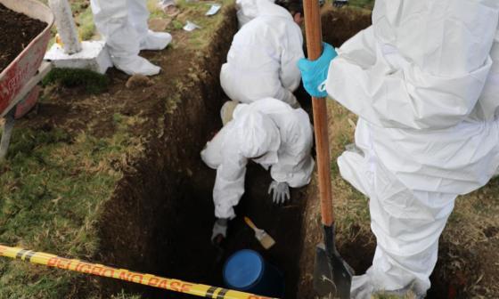 La JEP hace exhumaciones en Antioquia en busca de 50 falsos positivos