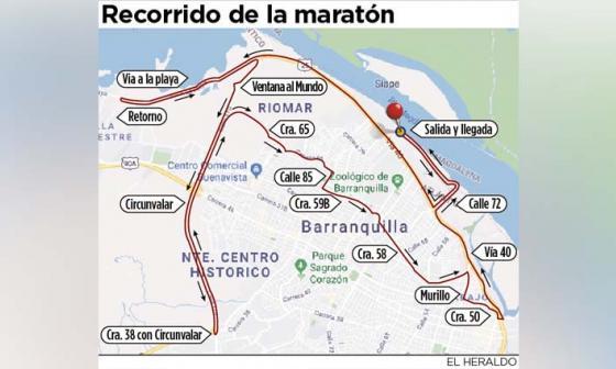 Se esperan 8 mil personas en la Maratón de Barranquilla