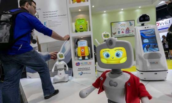 Un robot fue el encargado de recibir a los asistentes a esta nueva versión del CES.