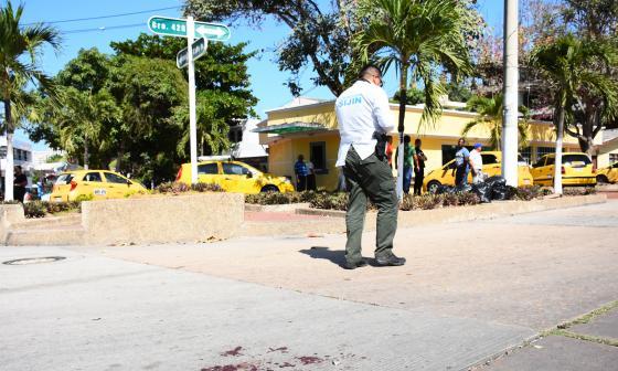 Sitio donde fue atacado a balas el empresario.