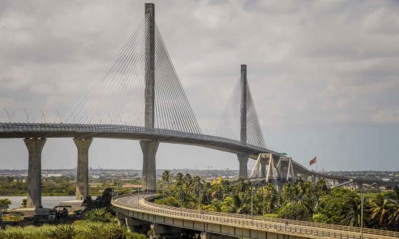 Vista del nuevo puente Pumarejo que se inauguró el pasado 20 de diciembre.