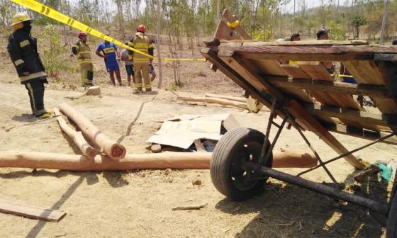 Listón de madera le cayó en la cabeza y lo mató en Sabanalarga