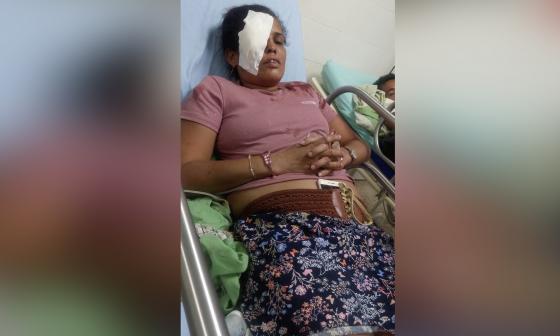 Yina Rivera en el hospital Eduardo Arredondo.