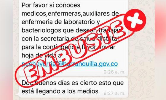 No hay convocatorias laborales para la Secretaría de Salud de Barranquilla