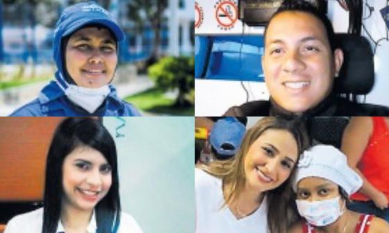 Katerín Campy Pérez, Eder Martínez Cabrera, Karen Espitia Moreno y Marla Sáez.