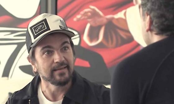 Juanes contando su historia a Yamid Amat Serna.