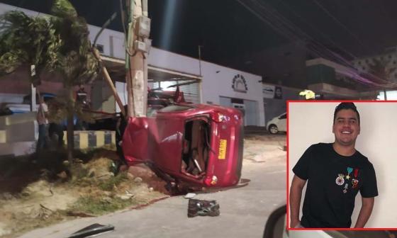 En video   Hijo de Diomedes Díaz muere en aparatoso accidente de tránsito en el norte de la ciudad