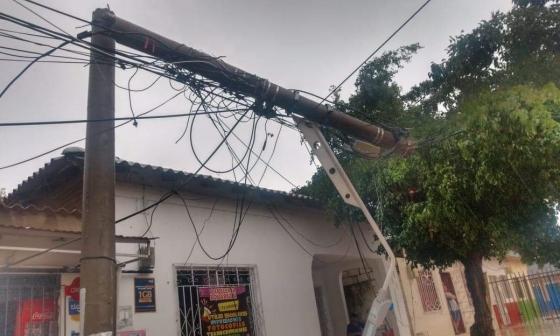 Electricaribe evalúa daños ocasionados por las lluvias