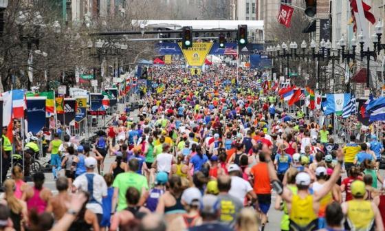 Una de las ediciones de la Maratón de Boston.