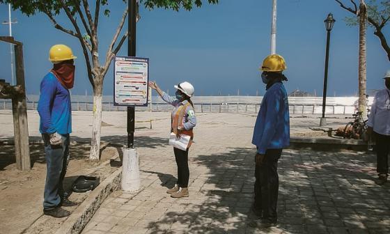 Se inician actividades preliminares para la remodelación del Camellón de la Bahía de Santa Marta