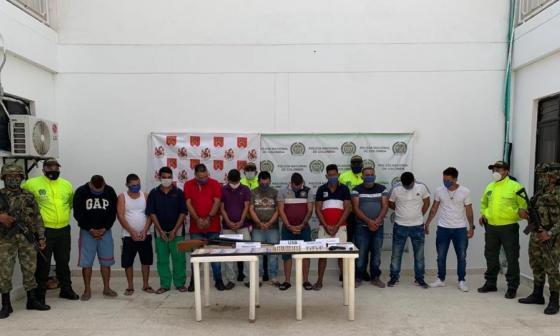 En ocho allanamientos capturan a 11 presuntos integrantes de Los Rastrojos