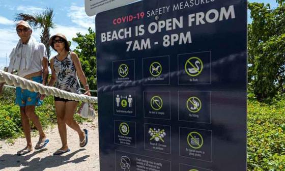 Miami celebra apertura de sus playas, pero pasa los 20.000 casos de COVID-19