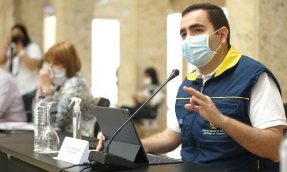 El gobernador de Bolívar, Vicente Blel, en reciente PMU cumplido con asistencia de la ministra del Interior, Alicia Arango.