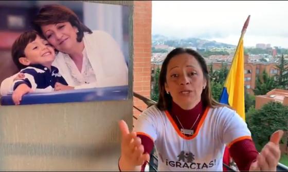 La excandidata al Congreso, Yohana Jiménez, hija de la fallecida Gilma Jiménez.