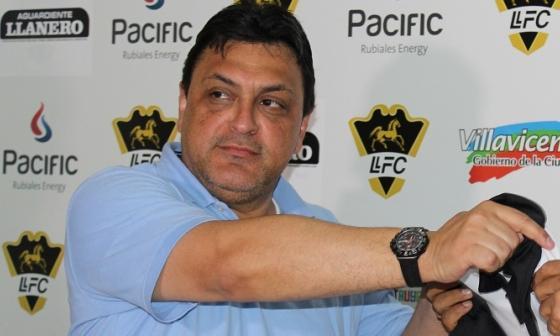 El barranquillero Héctor Matheus, presidente de Llaneros FC.