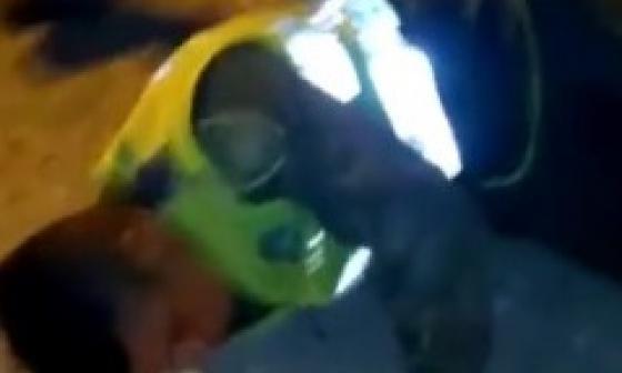Policías aparentemente borrachos protagonizan accidente en Cartagena