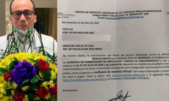 Imputarán cargos a supuesto autor de amenazas a médico de Soledad