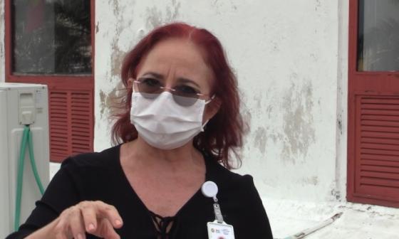 Olga Acosta, secretaria de Educación de Cartagena.