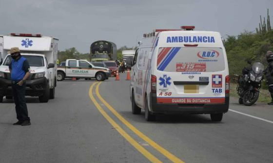 Traslado de heridos a Valledupar. Imagen de referencia.