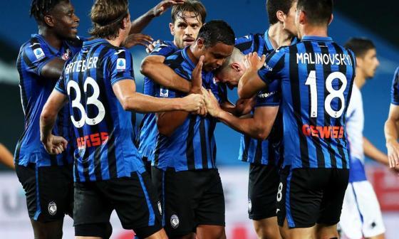 El colombiano Luis Fernando Muriel no celebró el gol ante su exequipo, la Sampdoria.