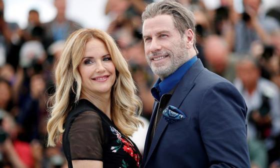 El actor John Travolta y su esposa Kelly Preston durante el Festival de Cannes en 2018.