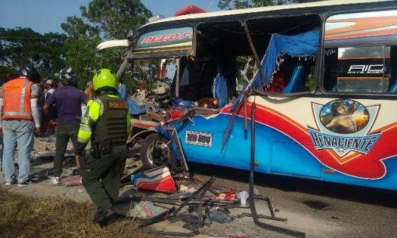 En video   Triple accidente en Bayunca deja 10 personas heridas