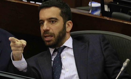 Arturo Char Chaljub, senador de Cambio Radical, durante una sesión en el Congreso de la República.