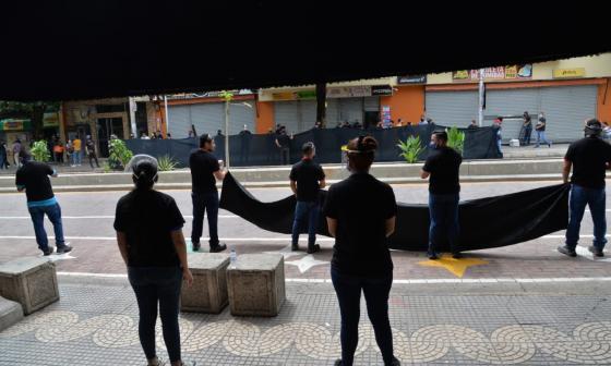 Distrito hizo acompañamiento durante protesta de comerciantes