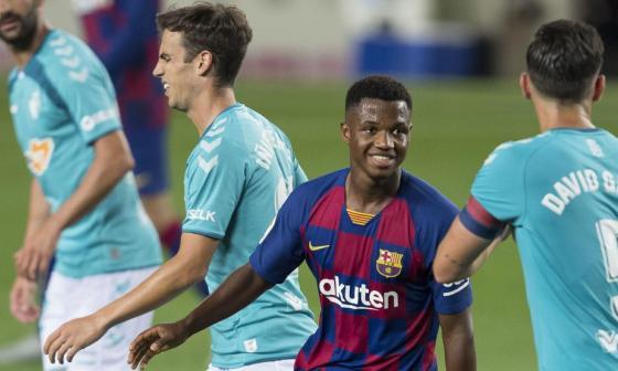 Ansu Fati, jugador revelación del FC Barcelona esta temporada.